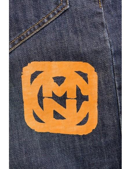 Pantalon COMUN98 KF PATCH NARANJA detalle detras