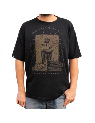 "Camiseta JAVATO JONES ""ESCORIA"" NEGRA"