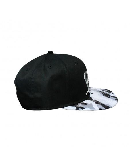 Gorra RAPSOLO VDV GREY CAMO VISOR unisex, de algodón en color negro