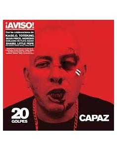 """VINILO 2LP +CAPAZ """"20 GOLPES"""". EDICIÓN LIMITADA VINILO ROJO"""