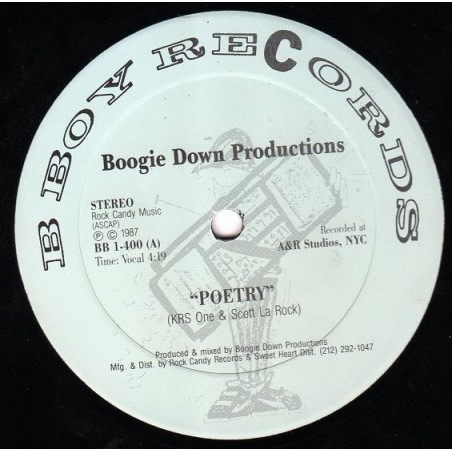 "VINILO MX BOOGIE DOWN PRODUCTIONS ""POETRY/ELEMENTARY"""