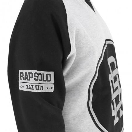 Sudadera RAPSOLO LOGO RS GREY unisex, en algodón color gris