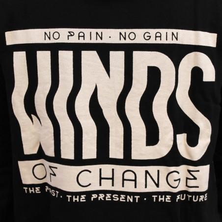 Sudadera hombre NO PAIN NO GAIN WINDS en algodón, color negro