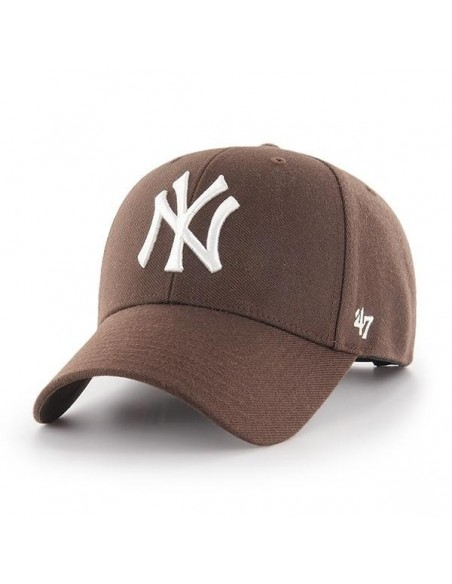 Gorra curved struct fit 47 BRAND NEW YORK YANKEES BCHARCOAL BROWN