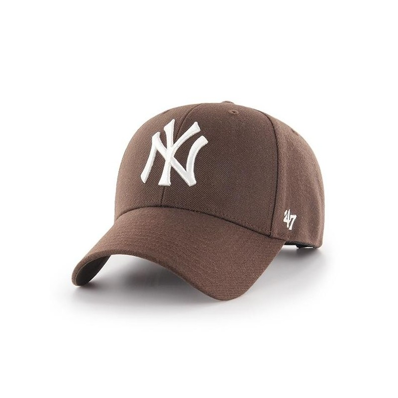 2a868d2669993 Gorra curved struct fit 47 BRAND NEW YORK YANKEES BCHARCOAL BROWN ...