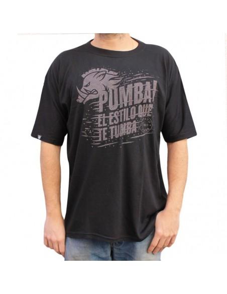 """Camiseta JAVATO JONES """"PUMBA"""" NEGRA"""