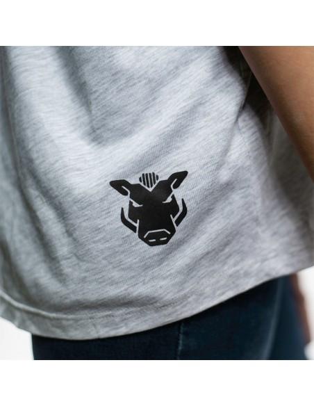 "Camiseta chica JAVATO JONES ""ALL THE PEOPLE"" GRIS"