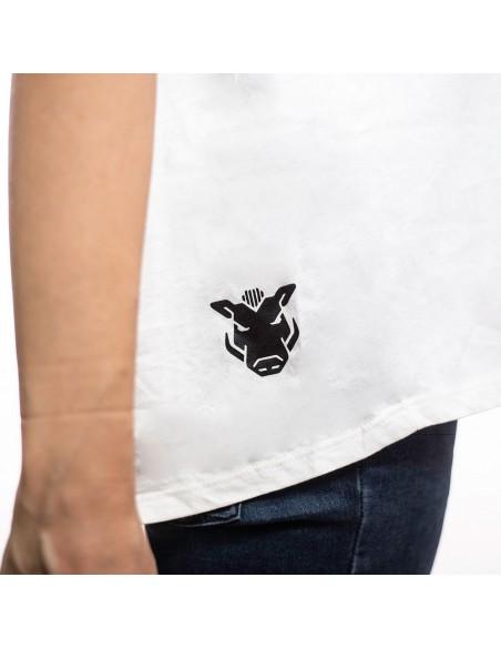"Camiseta chica JAVATO JONES ""TRISTE"" BLANCA"