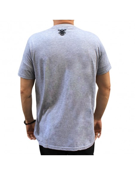"Camiseta JAVATO JONES ""LIVING IS BEAUTIFUL"" GRIS"