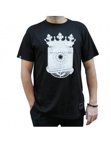 "Camiseta JAVATO JONES ""GIRASOLES"" NEGRA"