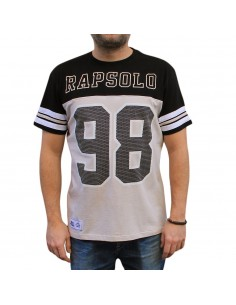 Camiseta RAPSOLO 98 MESH unisex, de algodón en color gris