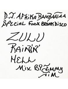 """VINILO LP AFRIKA BAMBATAA """"ZULU RAININ' HELL MIX"""""""