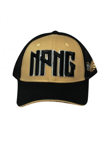 Gorra snapback NO PAIN NO GAIN LONELY unisex en algodón color negro