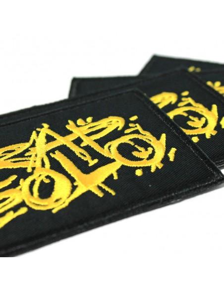 Parche RAPSOLO LOGO bordado, en color negro