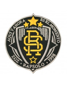 Parche RAPSOLO LOGO RS bordado, en color negro