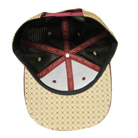 Gorra RAPSOLO VDV BURGUNDY unisex, de algodón en color granate