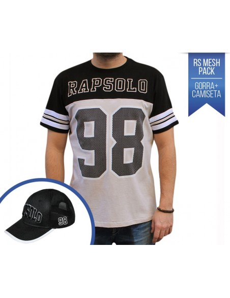 PACK RAPSOLO MESH CAMISETA RS 98 MESH + GORRA RS DIAMOND