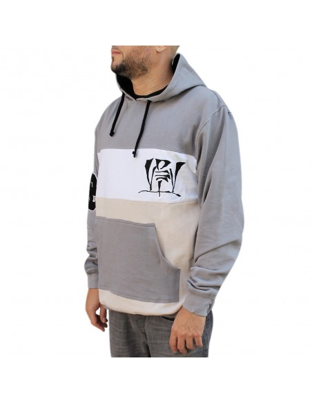 Sudadera con capucha VDV BLOCK GRIS unisex, en algodón color gris