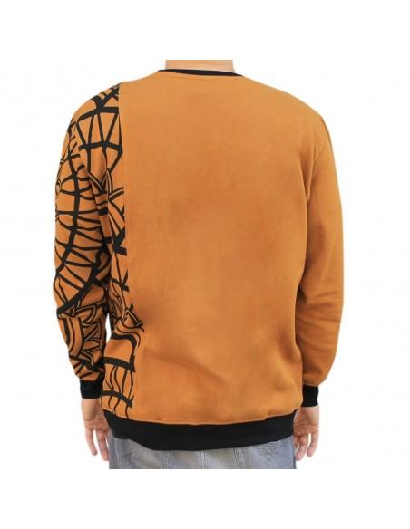 Sudadera hombre NO PAIN NO GAIN HORUS en algodón, color camel