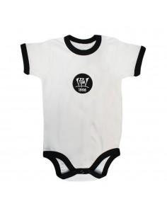 Body Bebé VIOLADORES DEL VERSO PATCH de algodón en color blanco y negro