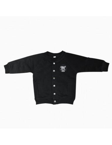Beisbolera Bebé VIOLADORES DEL VERSO PATCH de algodón en color negro