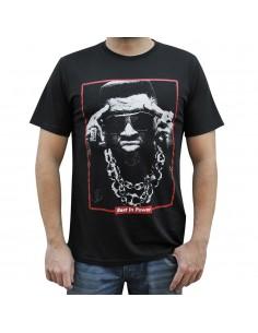 "Camiseta hombre NO PAIN NO GAIN ""TIM DOG"" unisex en algodón de color NEGRO"