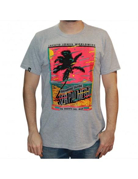 "Camiseta JAVATO JONES ""PALMERA GRIS"""