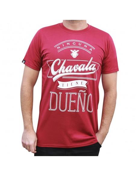 """Camiseta JAVATO JONES """"NINGUNA CHAVALA TIENE DUEÑO TXT"""" ROJA"""