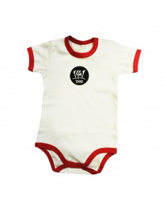 Body Bebé VIOLADORES DEL VERSO PATCH ROJO de algodón en color blanco y rojo