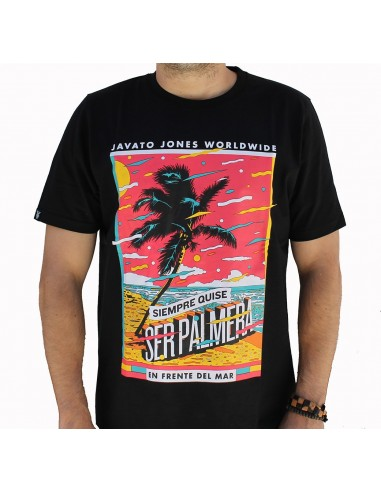 "Camiseta JAVATO JONES ""PALMERA NEGRA"""