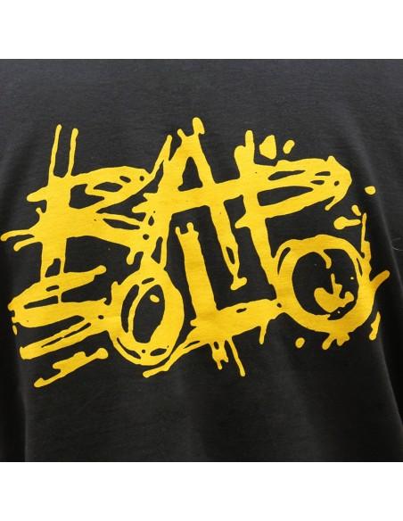 Camiseta RAPSOLO LOGO BACK unisex, en algodón color negro