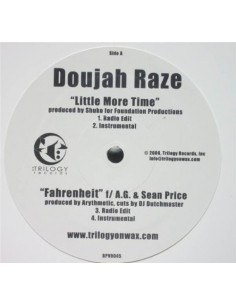 "VINILO MX DOUJAH RAZE ""FARENHEIT/WHEN MISERY NEEDS COMPANY/LITTLE MORE TIME"""