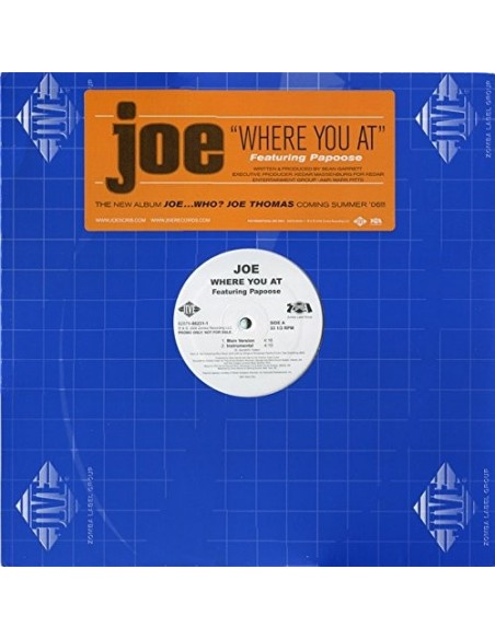 """VINILO MX JOE FEAT. PAPOOSE """"wHERE YOU AT"""""""