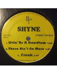 "VINILO MX SHYNE ""LIVIN AS A HOODLUM/THERE AIN'T NO MORE"""