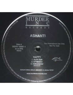 "VINILO MX ASHANTI ""HAPPY / CALL"""