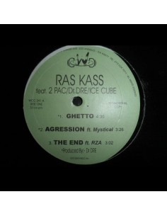 "VINILO MX RAS KASS FT. 2PAC, DR. DRE, ICE CUBE ""GHETTO / AGRESSION"""