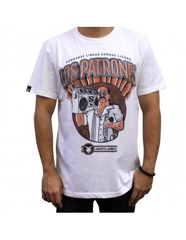 "Camiseta JAVATO JONES ""LOS PATRONES"" BLANCA"