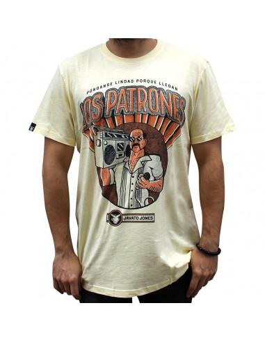 """Camiseta JAVATO JONES """"LOS PATRONES"""" AMARILLA"""