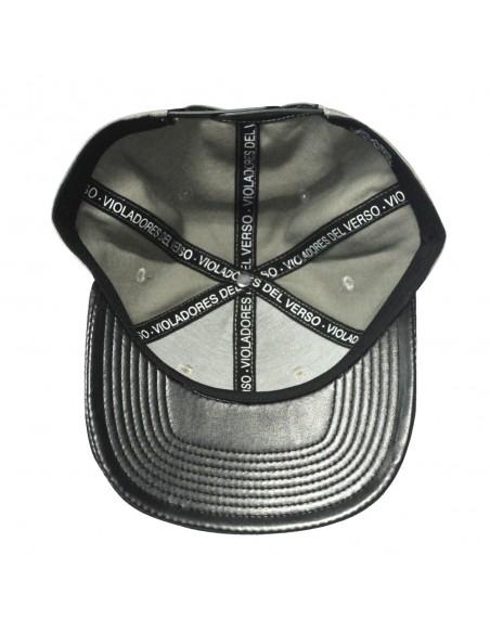 Gorra RAPSOLO VDV LEATHER unisex, de algodón en color gris