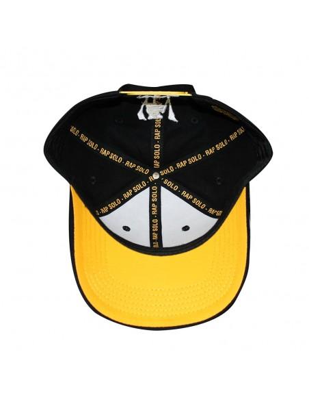 Gorra RAPSOLO LOGO curved unisex, de algodón en color negro