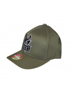 Gorra MITCHELL & NESS MILWAUKEE BUCKS VERDE OLIVA