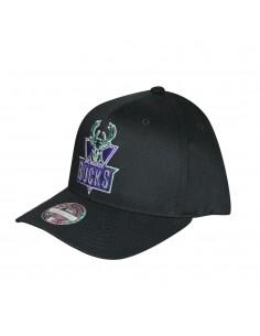 Gorra MITCHELL & NESS MILWAUKEE BUCKS NEGRA