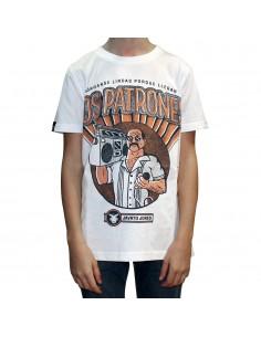 "Camiseta niño JAVATO JONES ""PATRONES"" BLANCA"