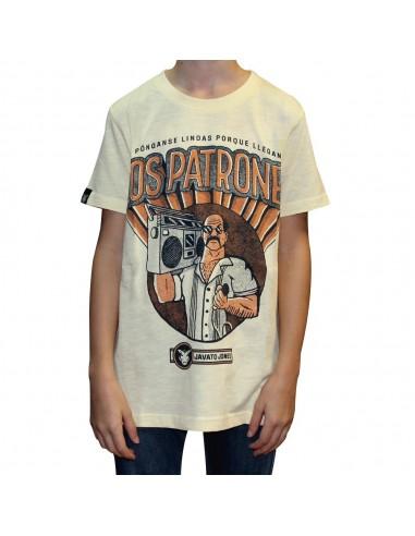 """Camiseta niño JAVATO JONES """"PATRONES"""" AMARILLA"""