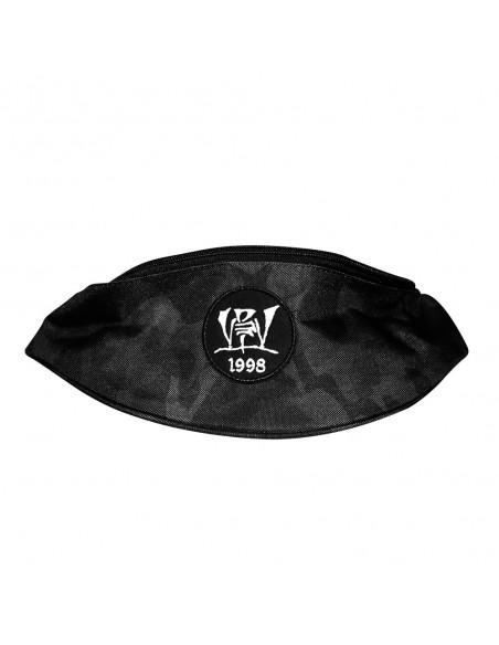 Riñonera LOGO RAPSOLO MIDNIGHT CAMO unisex, en polyester de color negro