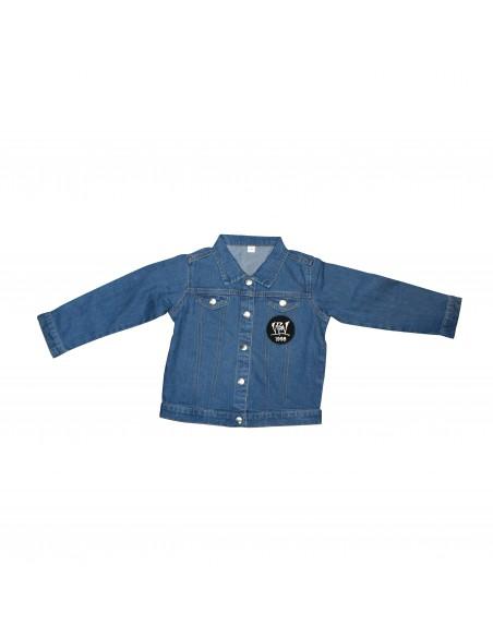 Cazadora vaquera niño VIOLADORES DEL VERSO PATCH de algodón en color azul