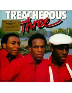 """VINILO LP TREACHEROUS THREE """"WHIP IT"""""""
