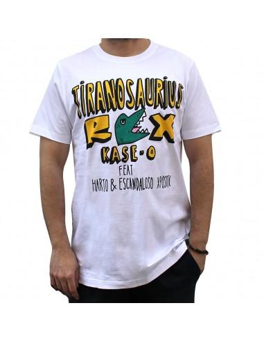 "Camiseta KASE.O ""TIRANOSAURIUS REX"" BLANCA"