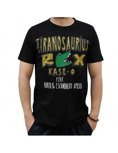 """Camiseta KASE.O """"TIRANOSAURIUS REX"""" NEGRA"""
