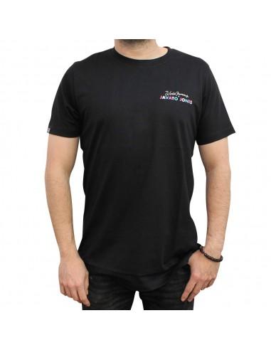 """Camiseta JAVATO JONES """"HÁGALE PUES"""" NEGRA"""
